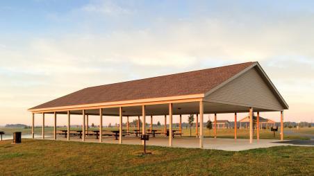 Pavilion built by Byler Builders
