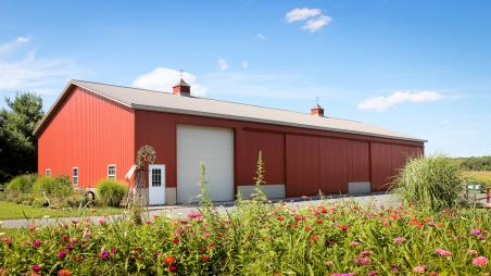 Large implement shed built by Byler Builders