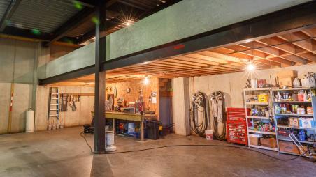 Mechanic's shop built by Byler Builders